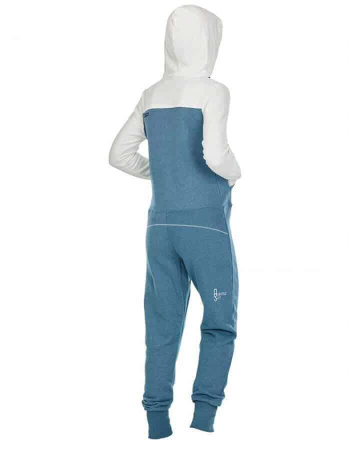 Magy női biopamut kezeslábas - hátulról -simple