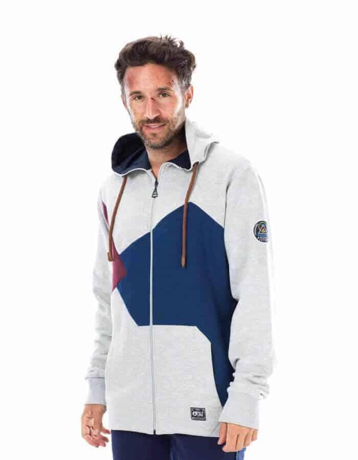 férfi kapucnis Maiiki pulóver, szürke - Picture Organic Clothing