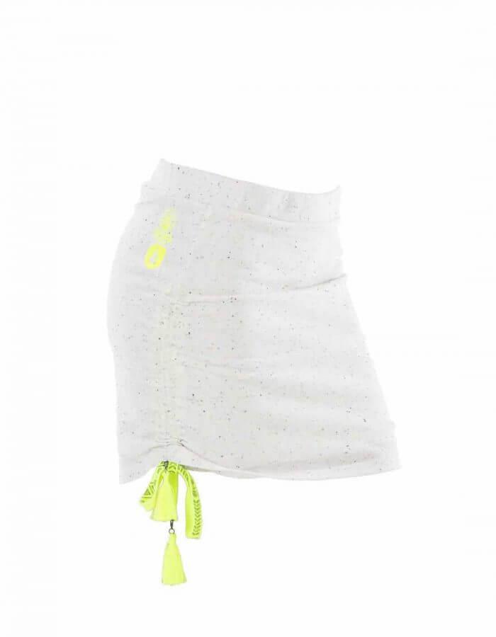 Picture Organic Clothing - Metoo szoknya oldalról fehér színben