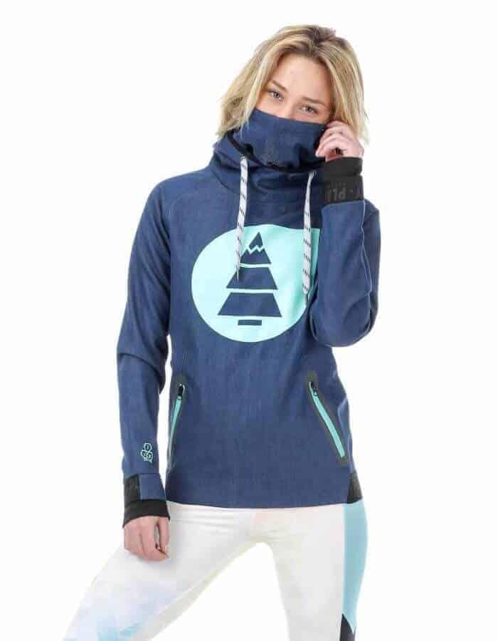 Miller női technikai kapucnis pulóver - kék