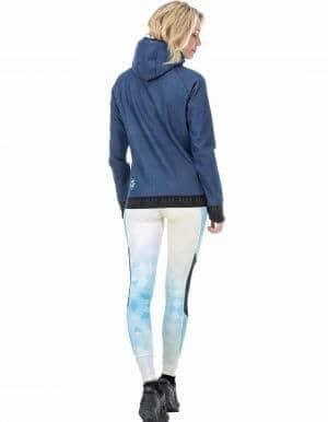 Miller női technikai kapucnis pulóver - kék hátulról