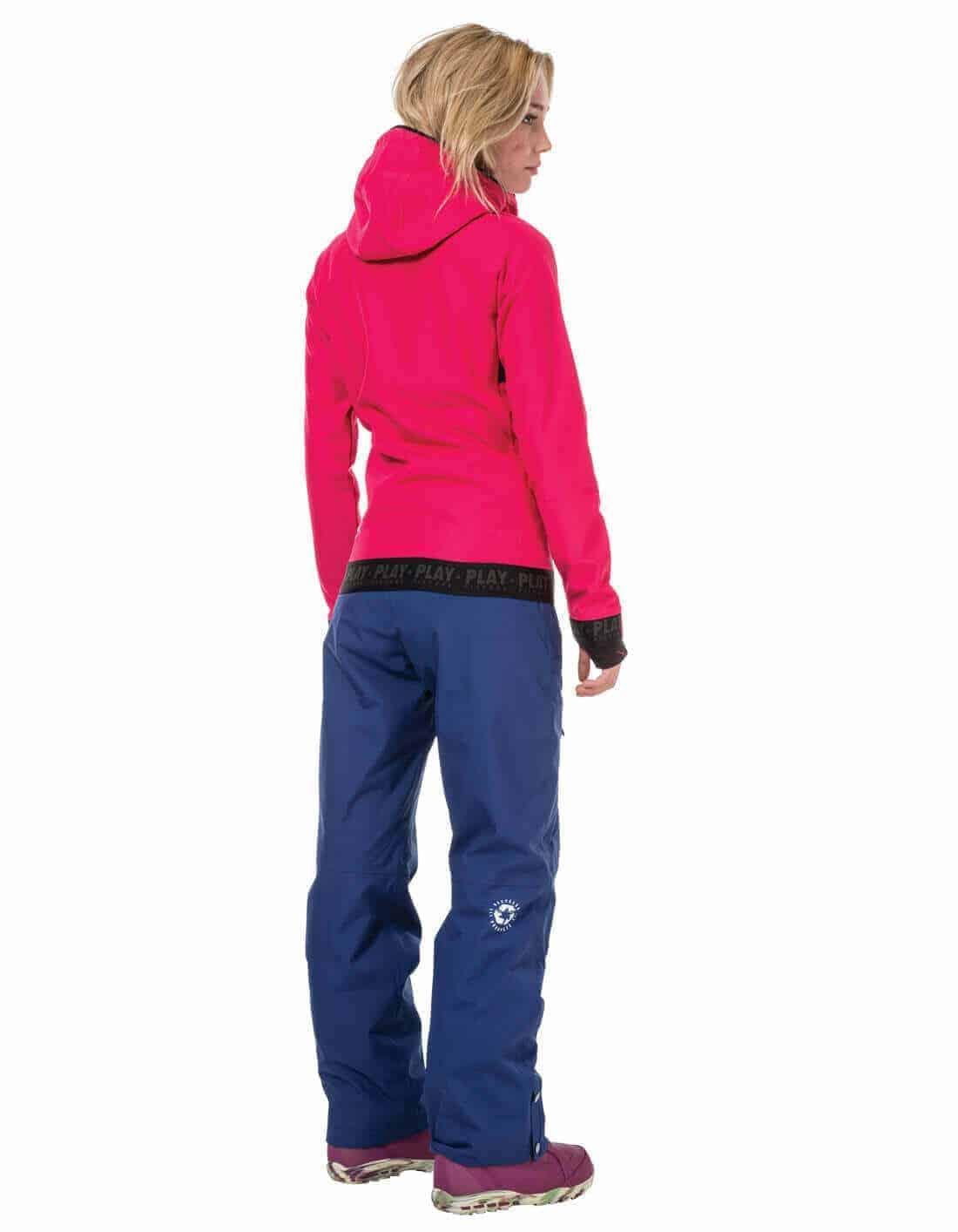 Miller női technikai kapucnis pulóver - rózsaszín hátulról