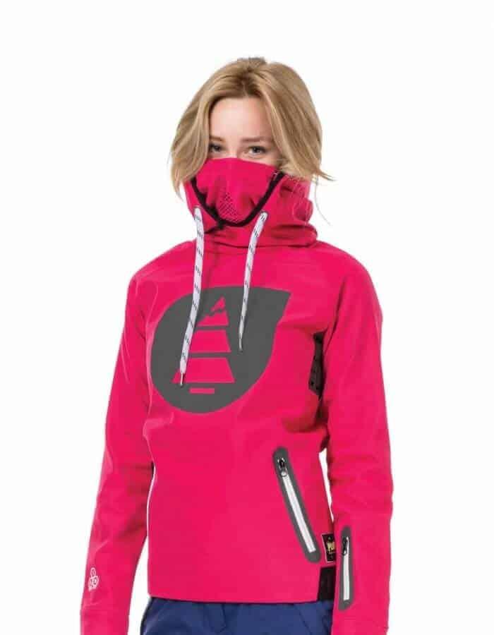 Miller női technikai kapucnis pulóver - rózsaszín