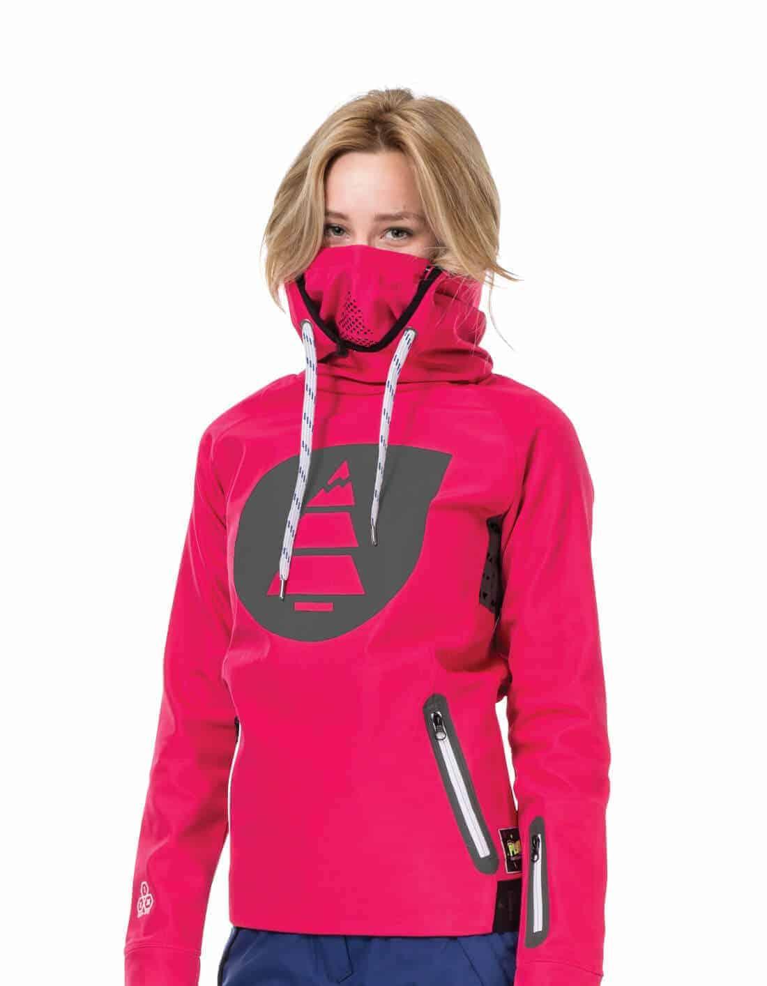 Miller női technikai kapucnis pulóver - rózsaszín f8dccab2f6