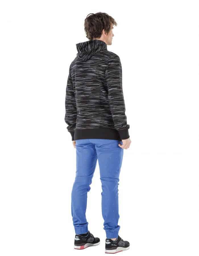 Ming férfi kapucnis pulcsi biopamutból hátulról