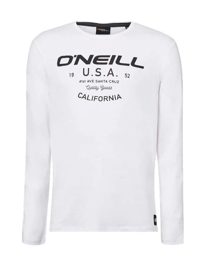Olsen hosszú ujjú póló fehér előröl
