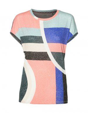 Oneill Abstract biopamut női póló elölről