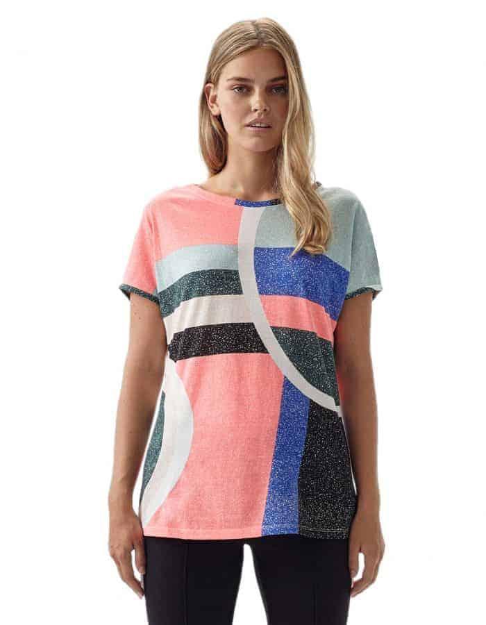 Oneill Abstract biopamut női póló előlről modell