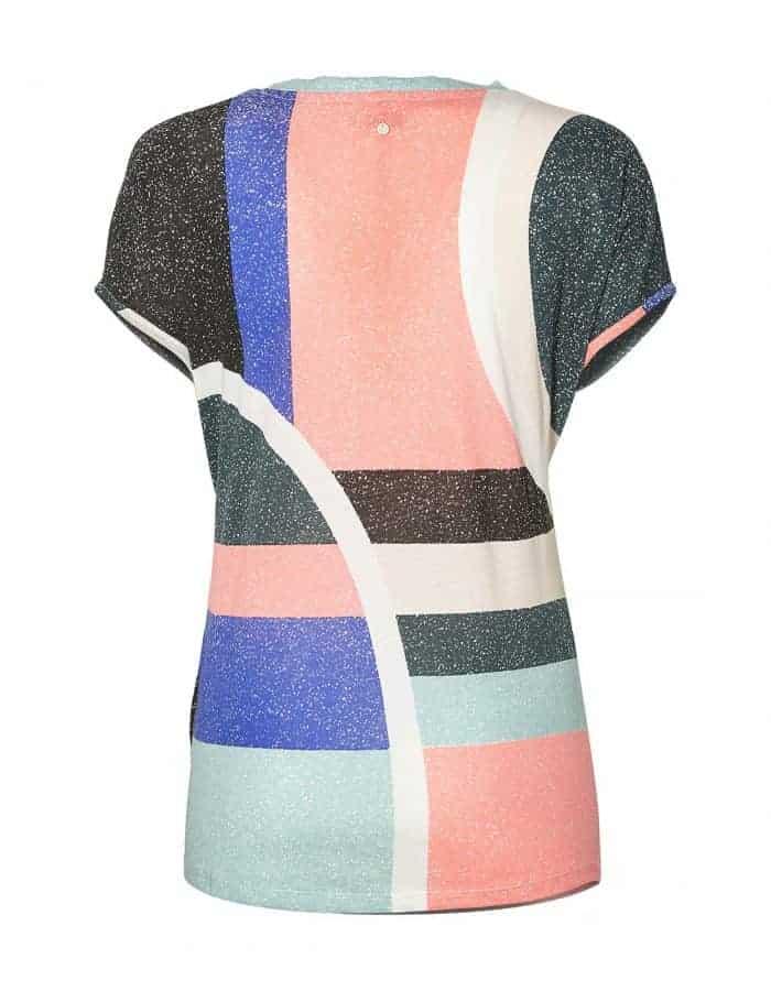 Oneill Abstract biopamut női póló hátulról