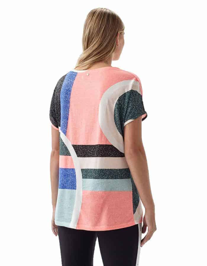 Oneill Abstract biopamut női póló hátulról modell