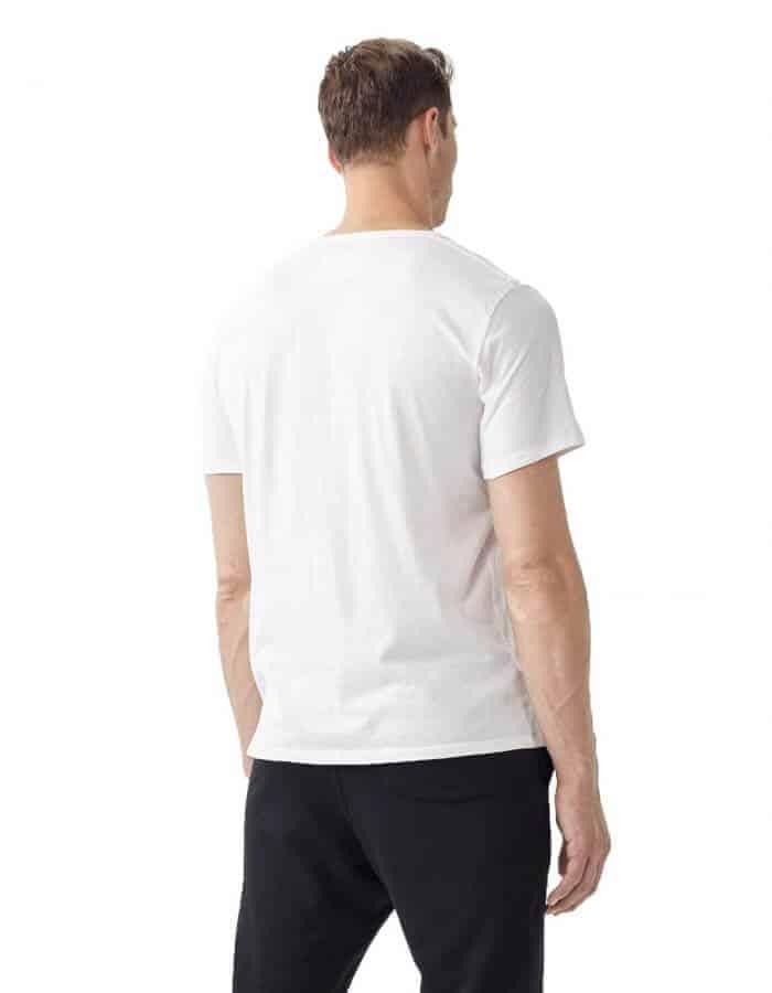 Oneill O fehér biopamut póló hátulról modell