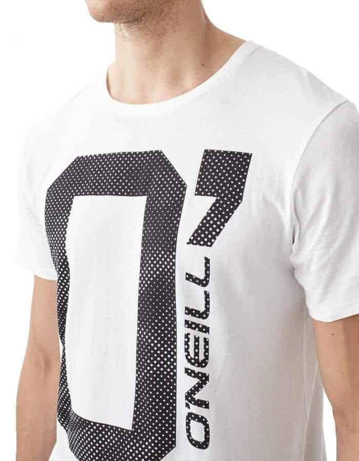 Oneill O' póló fehér biopamut póló közeli modell