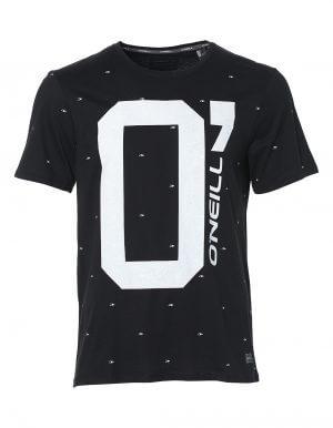 Oneill O fekete biopamut póló előröl