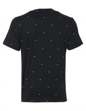 Oneill O fekete biopamut póló hátulról