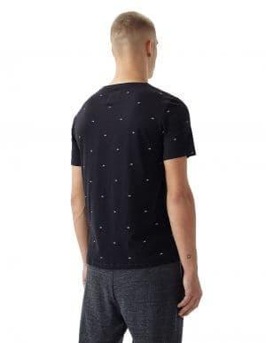 Oneill O' póló fekete biopamut póló hátulról modell