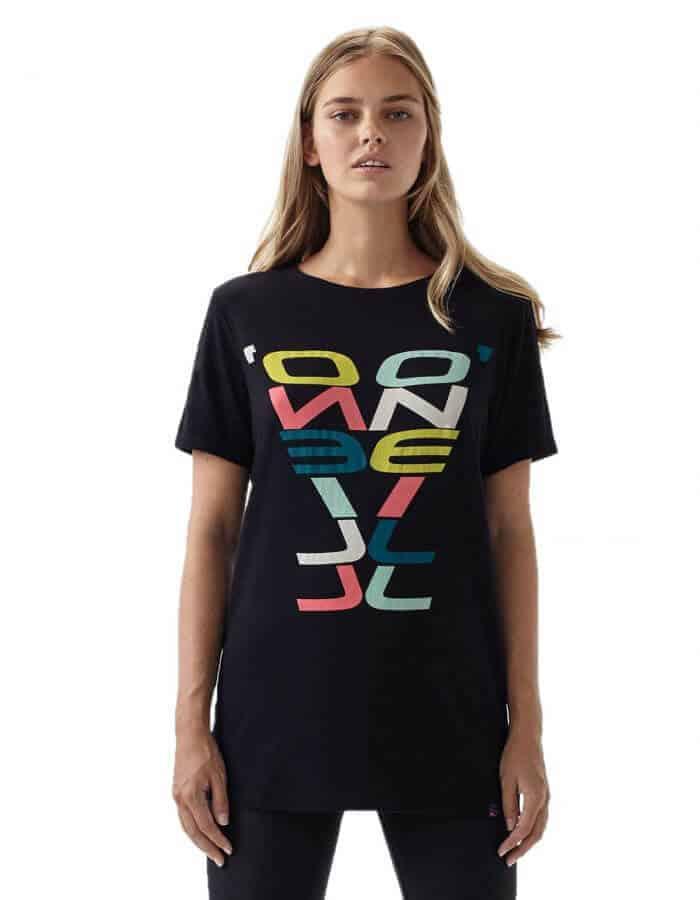 Oneill re-issue női biopamut póló előröl modell