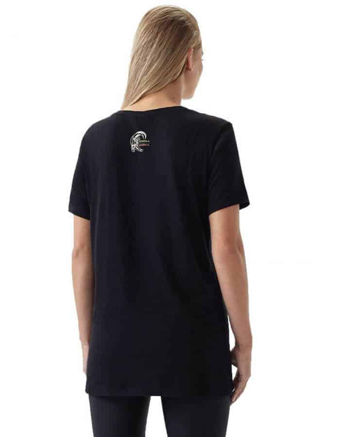 Oneill re-issue női biopamut póló hátulról modell