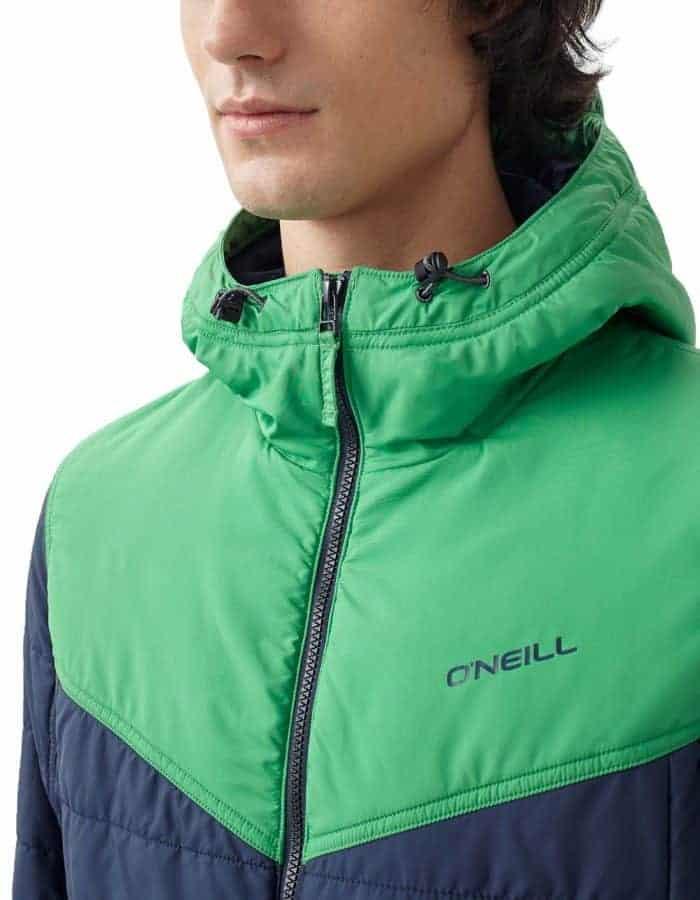 O'Neill transit újrahasznosított férfi kabát közeli