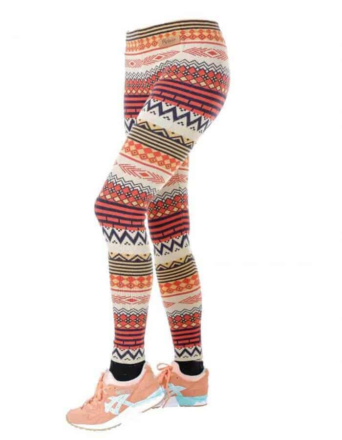 Polly női leggings kötött mintás meleg