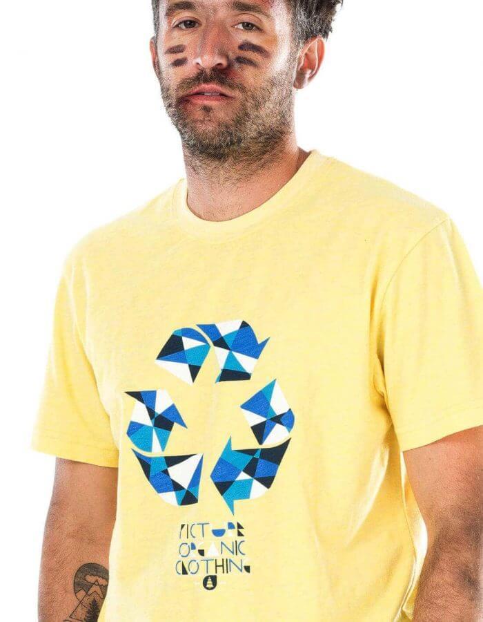 Recycled póló sárga