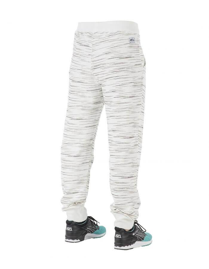 Relax férfi szabadidőnadrág fehér-csíkos hátulról