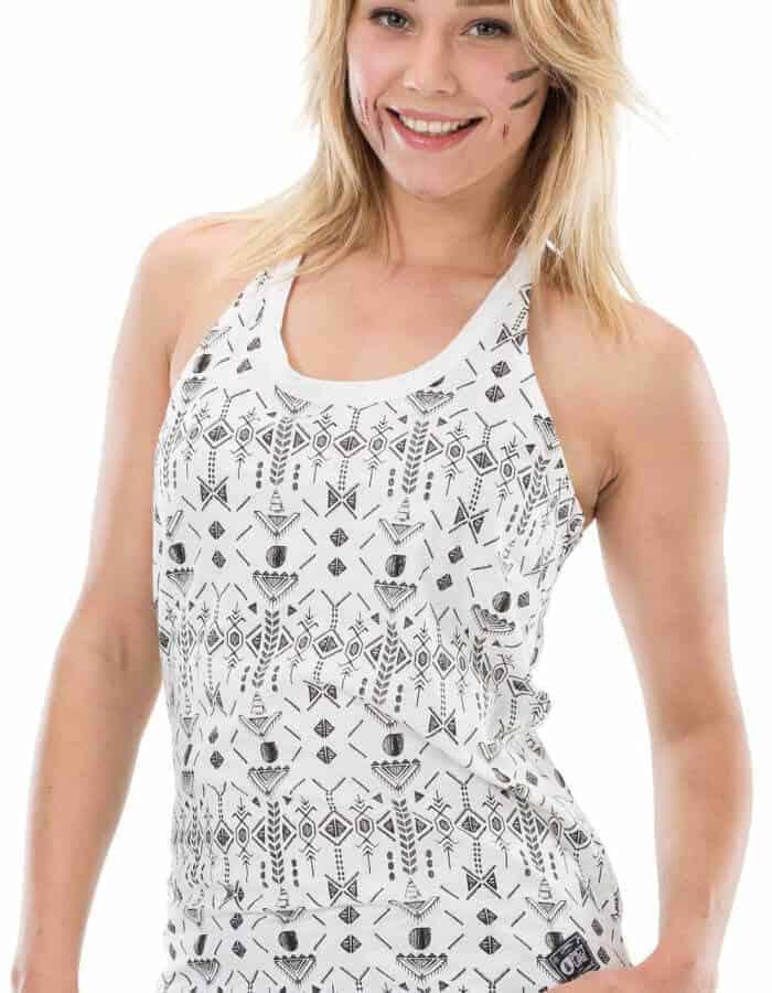 Fehér Riva póló mintája közelebbről