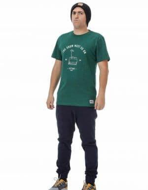 Runaway férfi póló zöld távoli