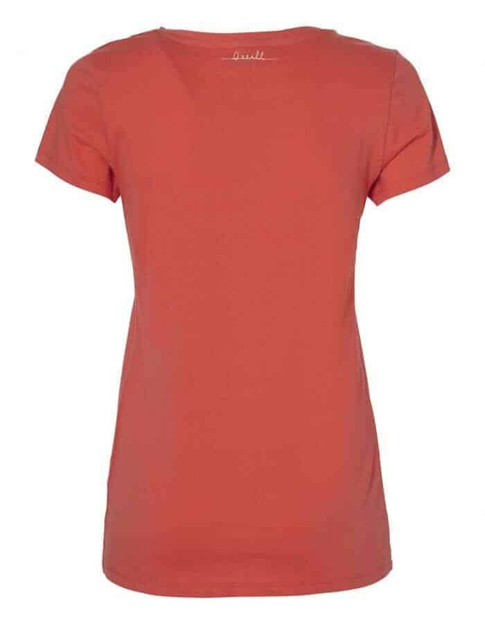 Script női póló coral színben