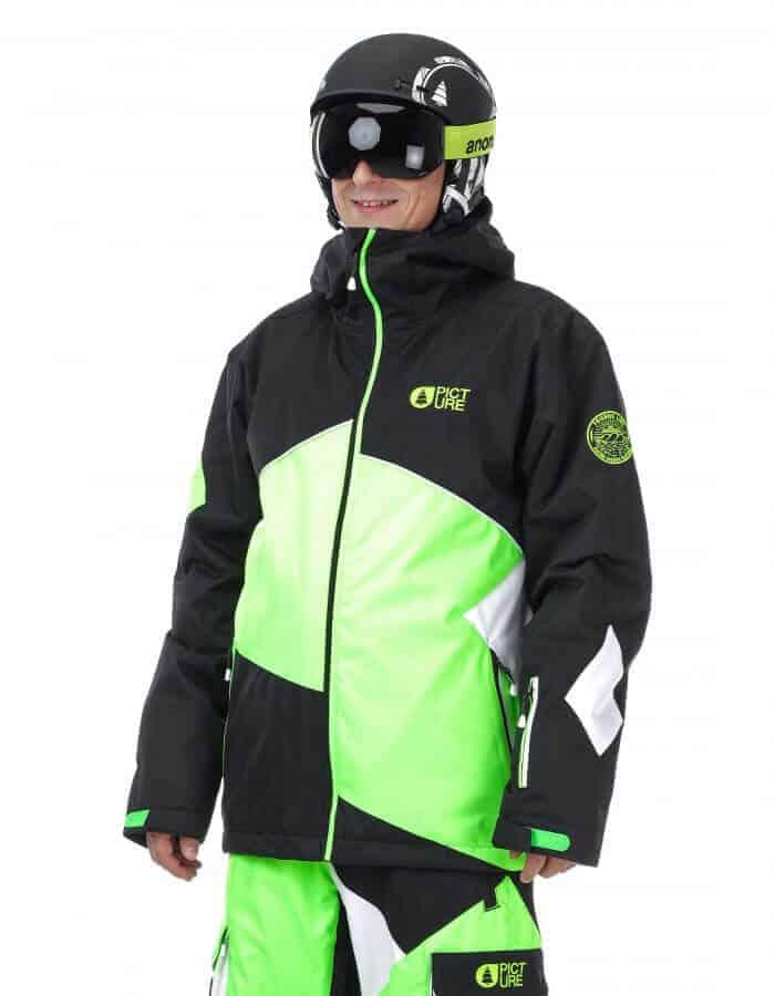 Styler férfi síkabát fekete - zöld