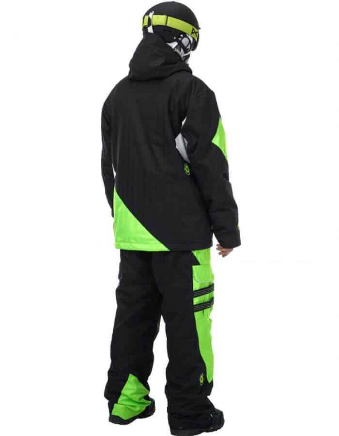 Styler férfi síszett hátulról fekete - zöld