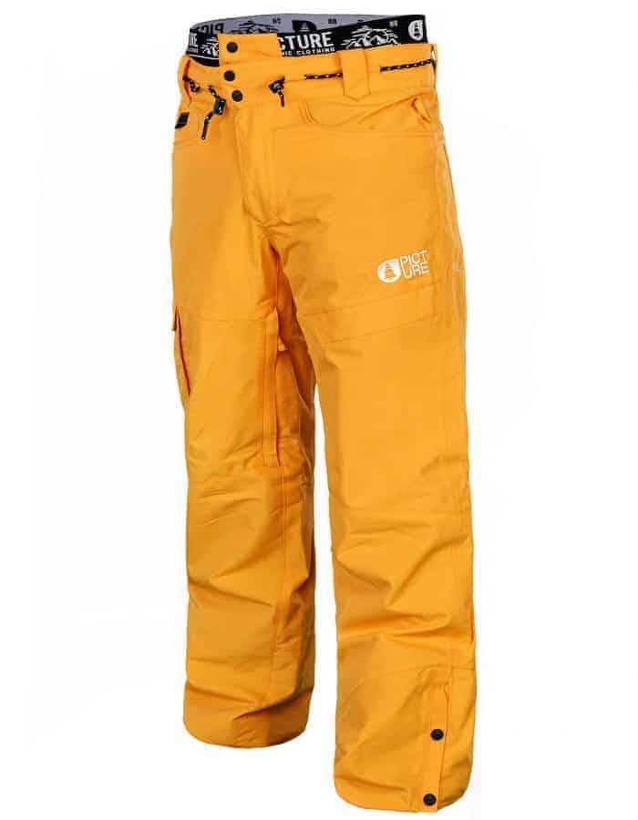 Under férfi snowboard nadrág elölről sárga