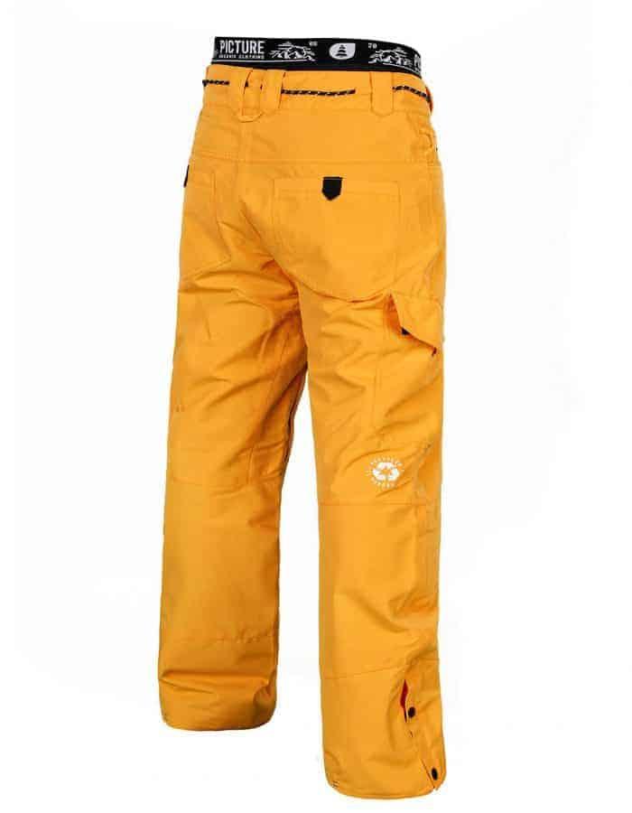 Under férfi snowboard nadrág sárga hátulról