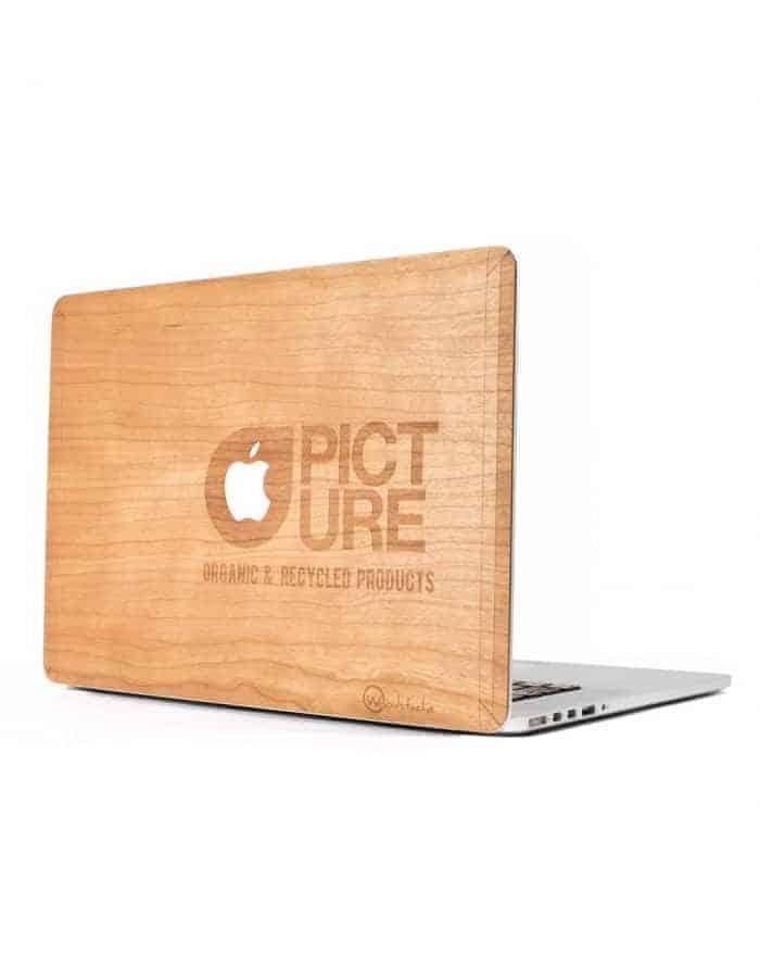 Fa MacBook borítás használat közben