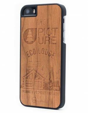 Woodstache x Picture fa iPhone 5-5S-SE tok Eco-Lodge oldalról