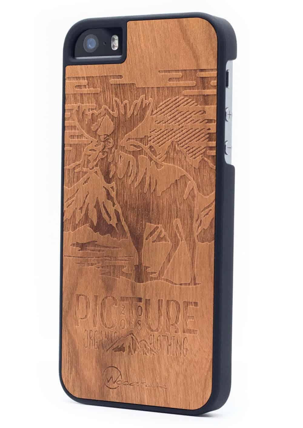 Woodstache x Picture fa iPhone 5-5S-SE tok Moose oldalról
