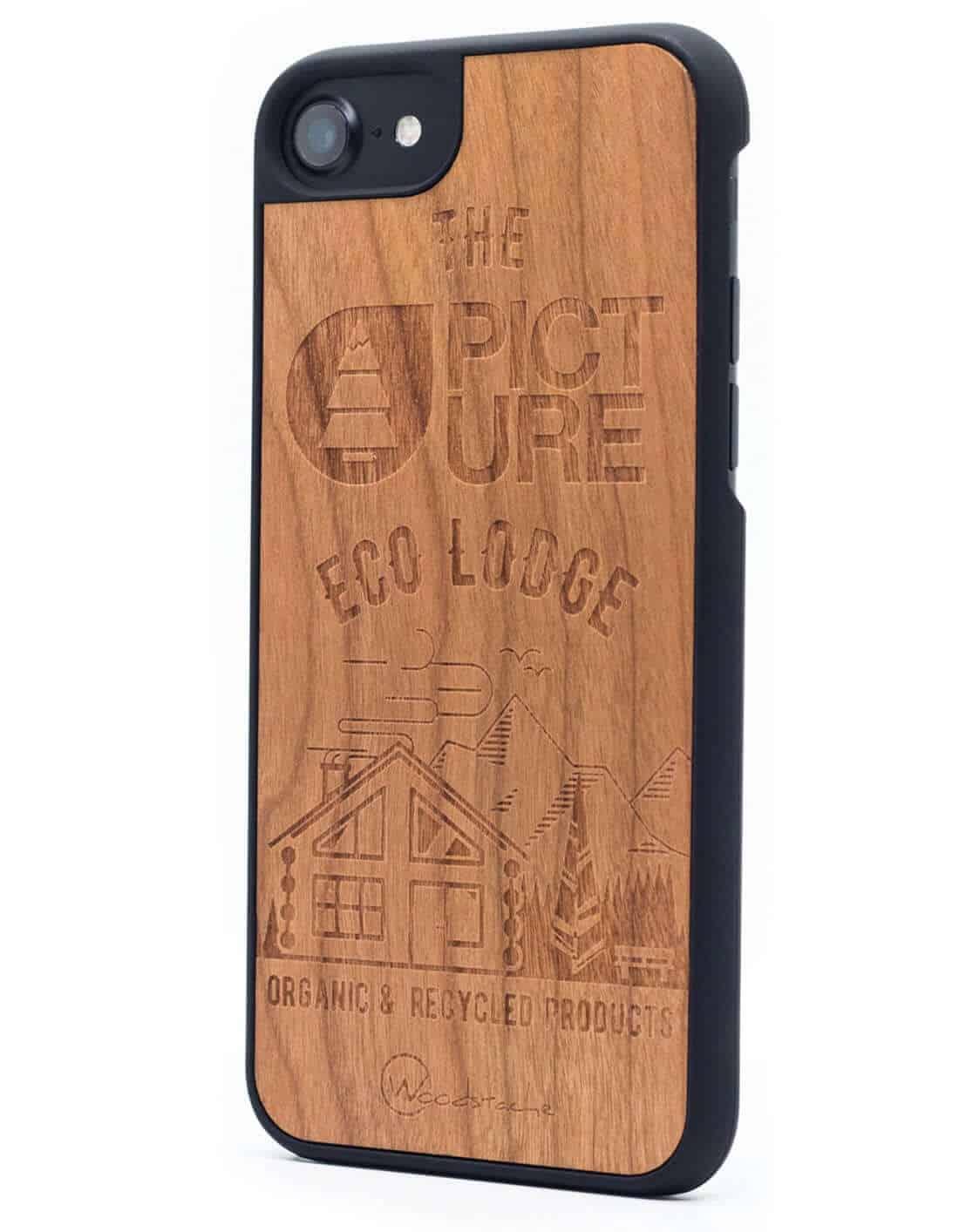 Woodstache x Picture fa iPhone 7-8 tok Eco-Lodge oldalról