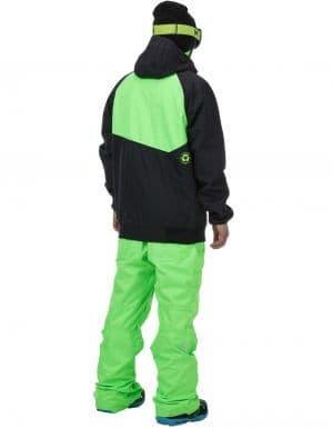 Zak férfi síkabát zöld-fekete hátulról