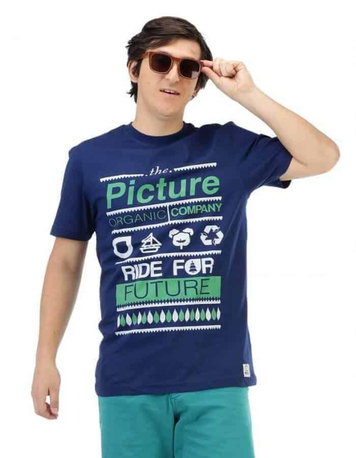 Férfi Club póló sötétkék színben