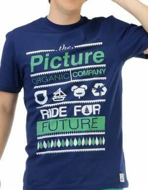 Picture Organic - Club póló kék közeli