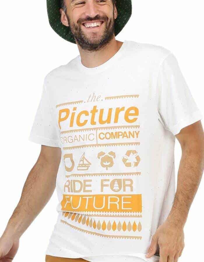 Picture Organic - Club póló fehér közeli