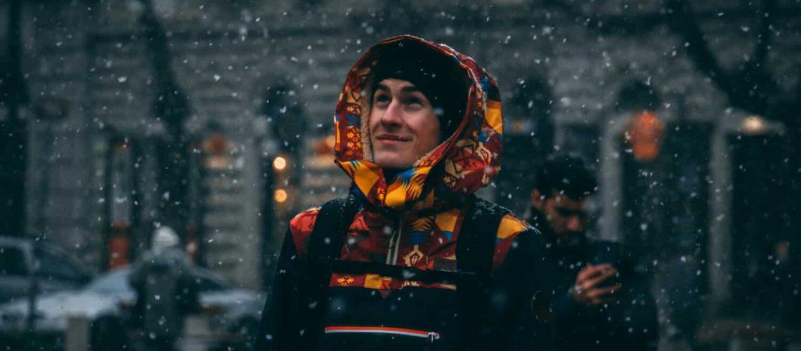 Hanö utcai kabát havazásban