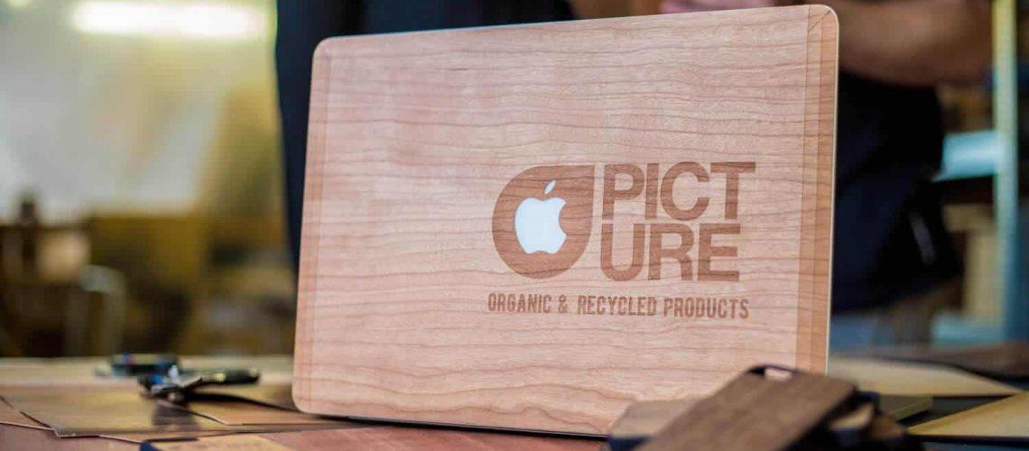 Woodstache x Picture - fa MacBook matrica lifestyle