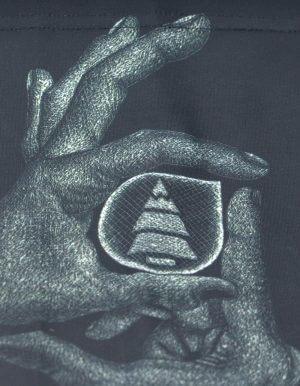 Hands nyakmelegítő közeli kép