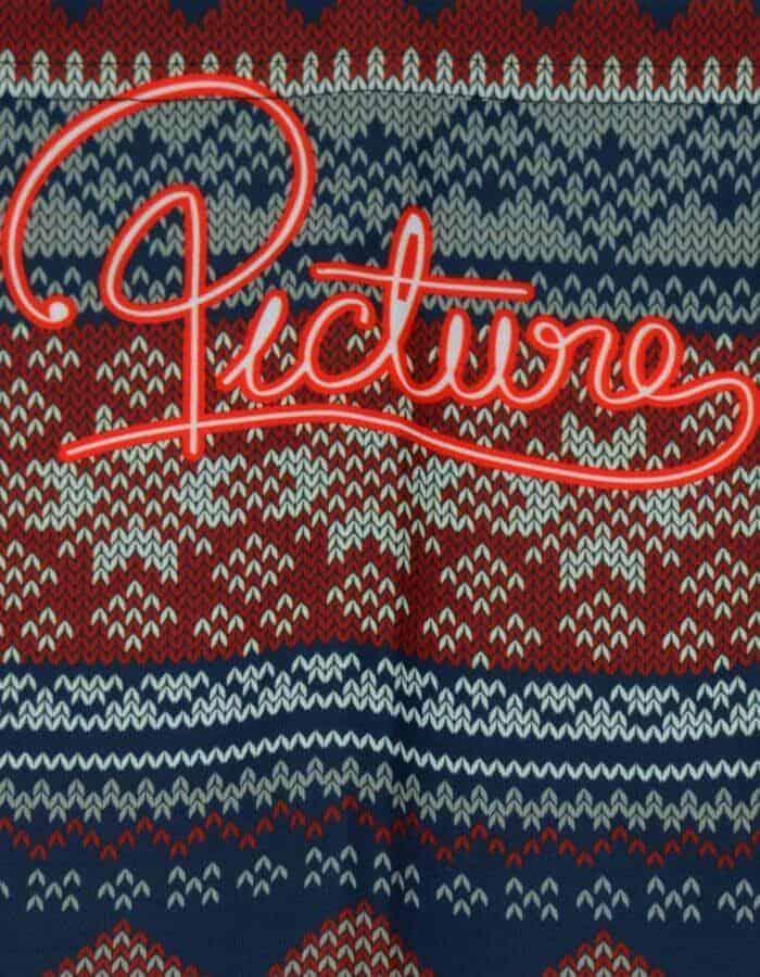 Knitted nyakmelegítő - kötött jellegű mintával közeli