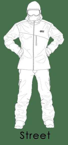 """Férfi téli ruházat """"street"""" fazon"""