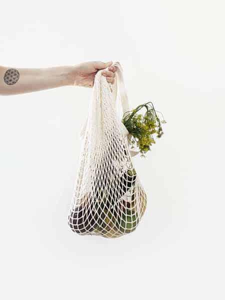 Zöldség ökozsákban