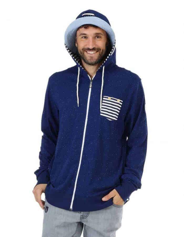 Tockson pulóver kék színben