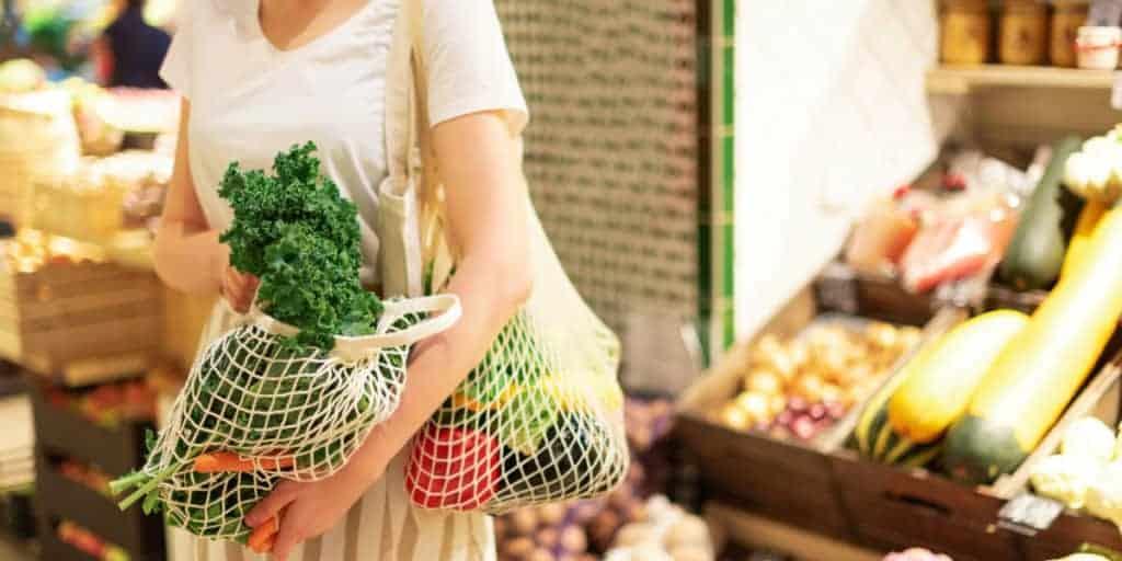Zero Waste bevásárlás hálós ökozsákokkal